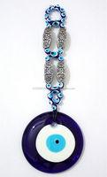 Blue Glass Evil Eye Wall Hanging