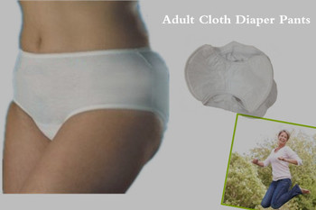 Women in adult diapers