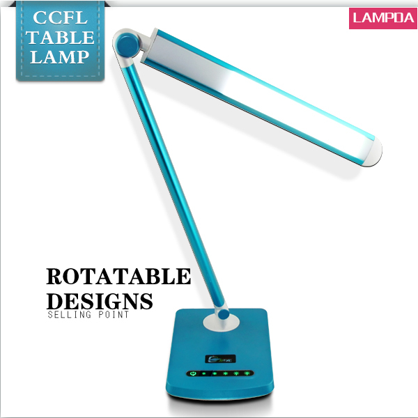 Manufactory directly provide brightness adjustable table lamsps foldable led fluorescent lights without ballast and starter