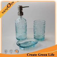 Wholesale Soap Dispenser Bottle Glass Bathroom Sets