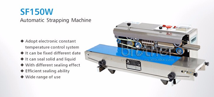 Brother packing continuous band heat plastic bags sealing machine with conveyor belt horizontal strip type band sealer