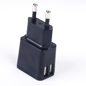 Dual usb 5V 2.4A wall charger for mobile accessories CE ROHS approval