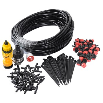 82 Feet Drip Irrigation System Kits For Outdoor Garden Greenhouse Automatic Watering Equipment