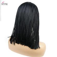 StrongBeauty женский синтетический парик плетеный ящик косы парики для афроамериканских женщин(Китай)