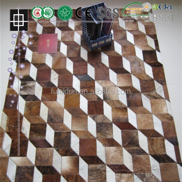 New Cowhide Rug Leather Cow Hide Animal Skin Patchwork Area Carpet