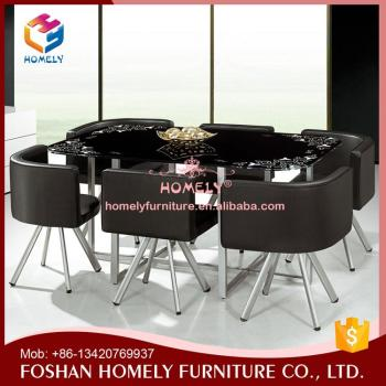 wholesale durable cafe stainless steel dining table
