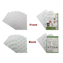 Self weeding no cut heat transfer paper for cotton fabric