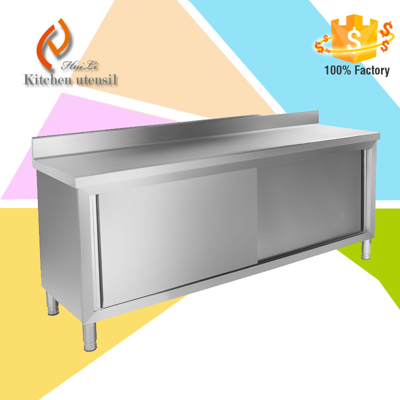 200x60 cm adjustable stands rustproof Stainless Steel Work Cabinet with Upstand