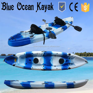Blue Ocean kayak/Two seats (2+1) sit on top double kayak for family use