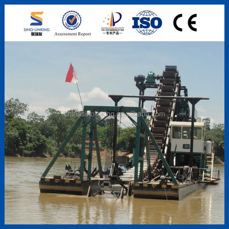 SINOLINKING Gravity Big Capacity Gold Dredge Boat for Sale in Africa