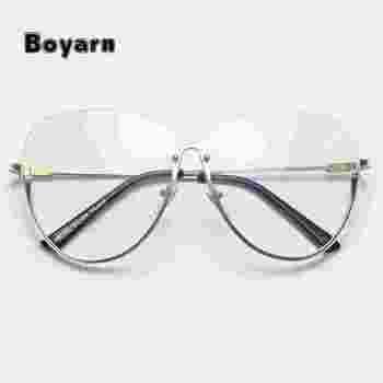 06f3294340 Boyarn único rimelss mujeres gafas vintage marcos de las lentes del ojo de  gato del marco