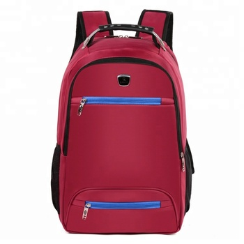 OEM Supplier classic red color polyester lightweight school bag new models