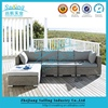 Fashion and Modern 5pc Leisure Chesterfield Sofa Wicker Garden Furniture