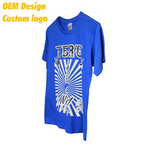 Hot Selling Low price Nylon Screen Print AU size custom label Royal Blue Round Collar Team T Shirt for Children