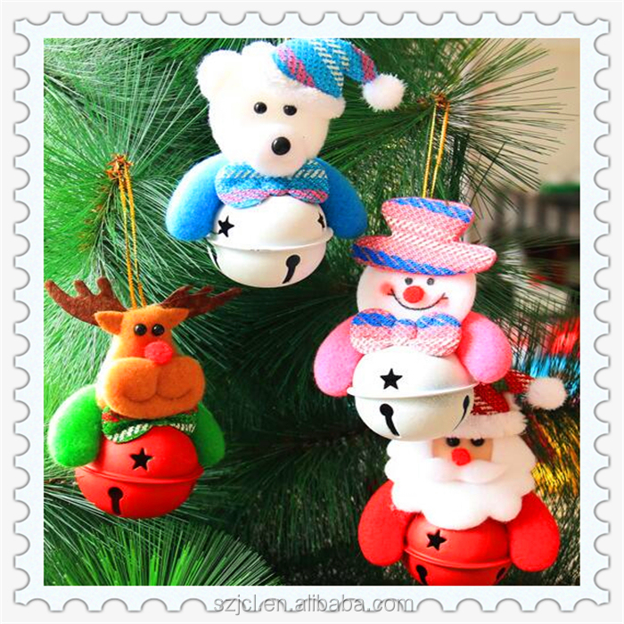 Bulk Christmas Tree Hanging Drop Small Dolls Decorative Bells Pendant Christmas Jingle Bell Ornaments
