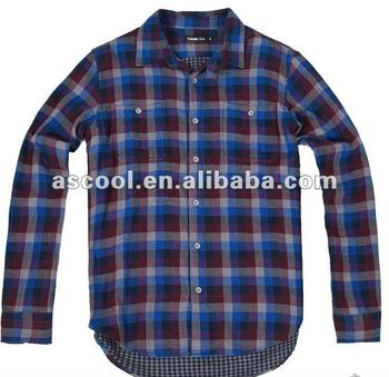 Double Faced Check Fashion Anti-Pilling Shirts for Men
