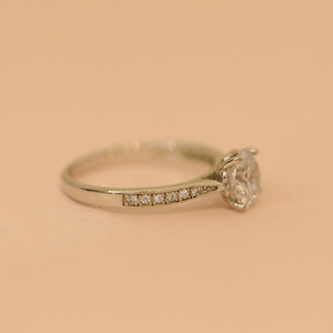 White gold plating silver ring for women, Wholesale 925 sterling silver ring
