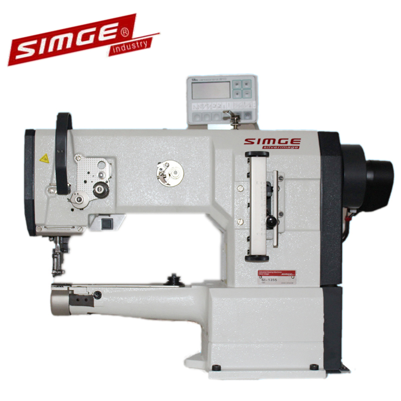 Si 1355 Cylinder Bed Arm Leather Bag Sewing Machine Fully Automatic Paper Making Cloth