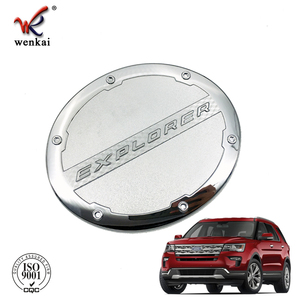 ABS Chrome Fuel Tank Styling Cover Trim Sticker For Ford Explorer 2013 2014 2015 2016 2017 2018 2019 Accessories