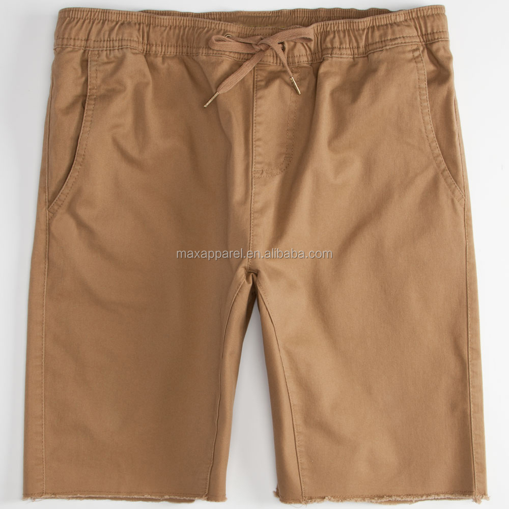 Wholesale Mens Jogger Short Khaki Shorts Twill Cotton Spandex Man ...