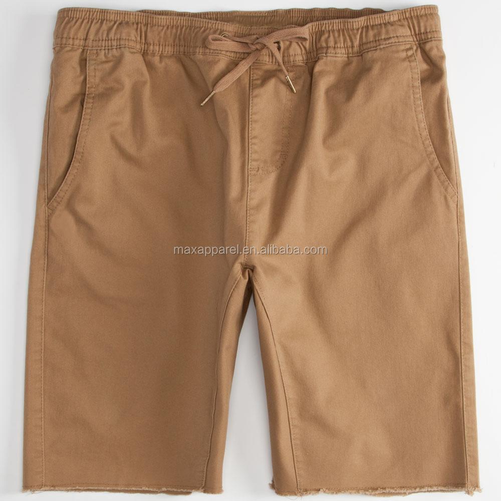 Wholesale Mens Jogger Short Khaki Shorts Twill Cotton Spandex Man ...