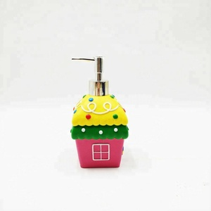 Fancy Kids Fairy Tale House Polyresin Bath Accessories set Lotion Dispenser