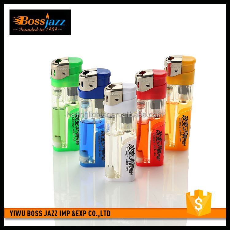 Top grade superior quality adjustable flame gas torch lighter with lamp