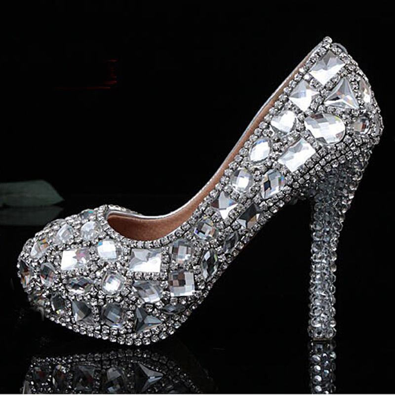 Low Heel Silver Prom Shoes Promotion-Shop for Promotional ...