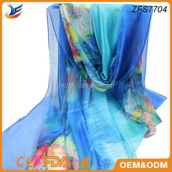 hot selling square scarf style infinity printed silk scarf