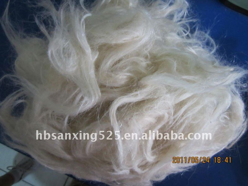 Hot sale White Combing goat hair waste for felt and yarn
