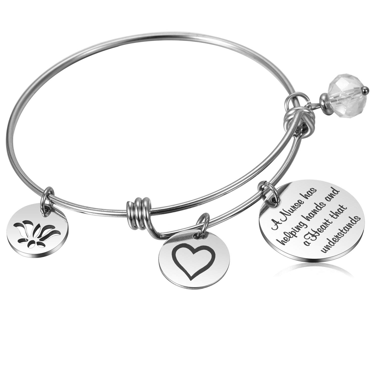 Get Quotations Nurse Practitioner Gifts Nursing Assistant Bracelet Appreciation For Graduation Birthday Retirement
