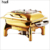 Hot sale top quality hotel restaurant stainless steel hydraulic buffet server glass top food warmer golden chafing dish