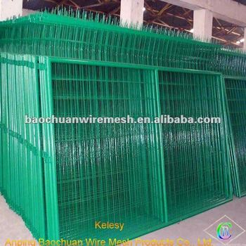 Green rot proof dip coating plastic coated wire mesh fencing