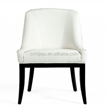 2015 hot-sale modern hotel leather white dining chair with