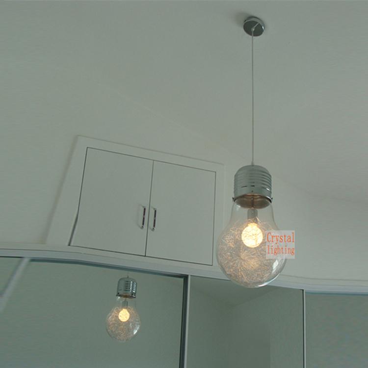 suspendus grande ampoule pendentif lampe contemporaine suspension clairage caf bar lampe. Black Bedroom Furniture Sets. Home Design Ideas