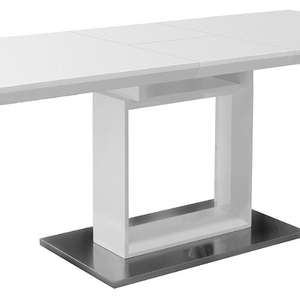 fireproof canteen table I shape corians stone dining table simple design marble look restaurant furniture