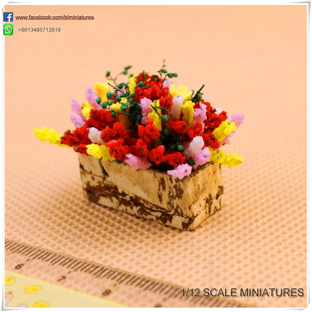 One Inch Dollhouse Clay Flowers Potted Miniature Fairy Garden Supplies