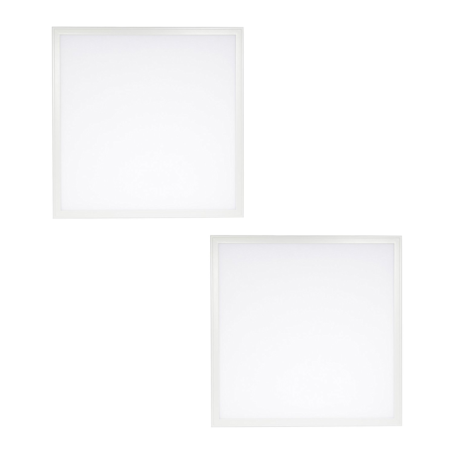 2-Pack - 2ft x 2ft LED Dimmable Flat Panel - 40W, 4000 Lumens - 4000K Bright White - DLC 4.0 Standard