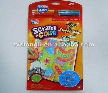 Kids Magic Scratch Book Coloring Notebook