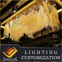 Golden stained murano glass ceiling lamps for hotel