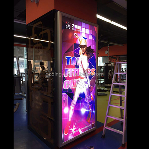 custom made outdoor advertising led backlit textile picture frame light box