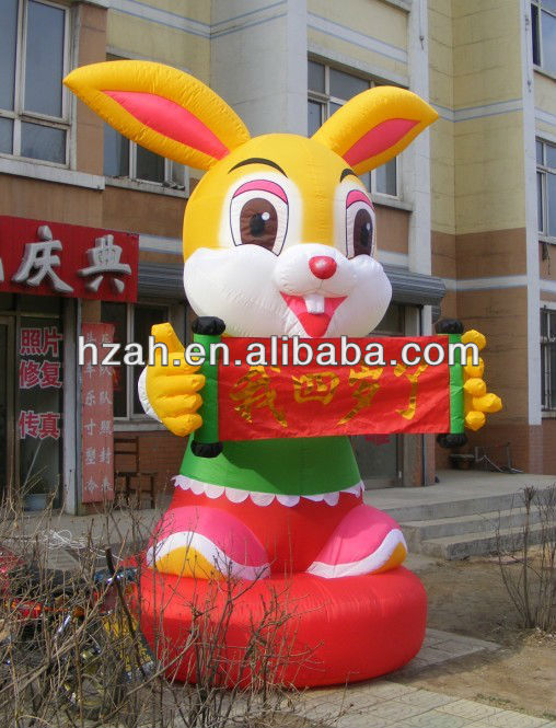 Lovely Inflatable Rabbit For Children's Birthday
