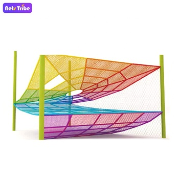 colorful net playground spider web playground equipment for kids