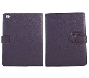 "iTALKonline PADWEAR Executive PURPLE Wallet FLIP Case Cover with HAND STRAP For Apple iPad 2 (2011) 2nd generation iPad 3 ""The New iPad Retina Display"" (2012) 3rd Generation (Wi-Fi and Wi-Fi + 3G + 4G) 16GB 32GB 64GB"