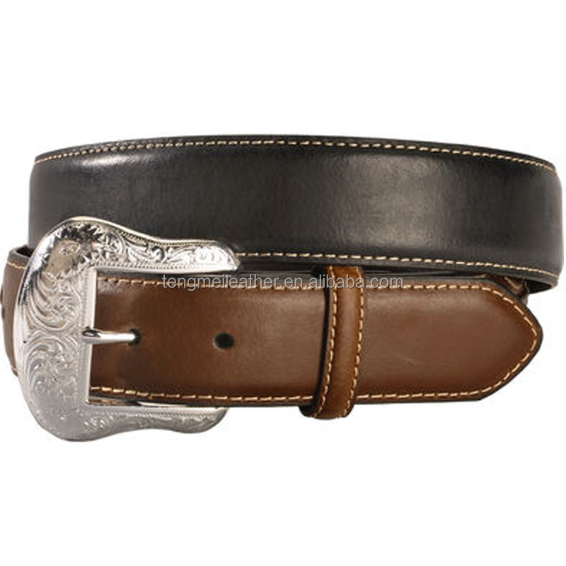 Western genuine black&brwon men jeans fashion leather belts