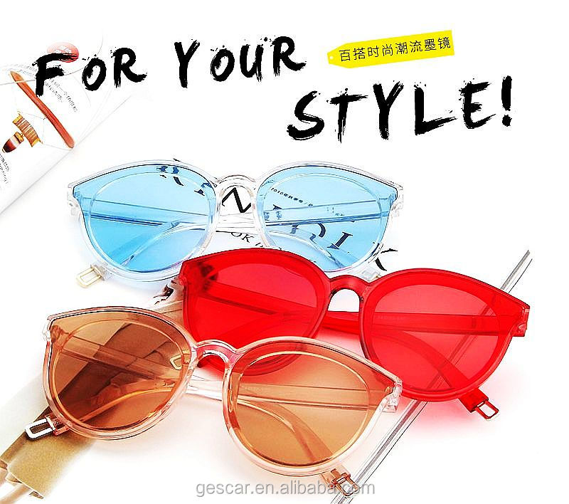 hot sale stylish candy color China sunglasses sun glasses