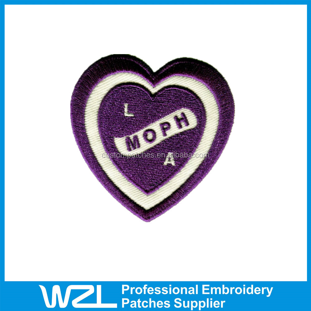2015 professional embroidered patch iron on patch number