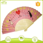 Silk Fabric Fans Fabric Fan Bamboo Staves Silk Fabric Hand Fans