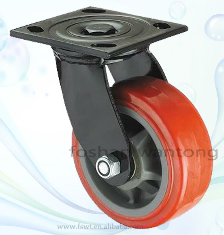 6 Inch Soft Polyurethane Heavy Duty Esd Swivel PU Caster Wheel