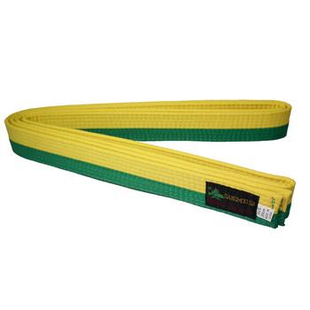Le Cinture Di Arti Marziali Taekwondokaratecintura Bjj Judo Green+yellow Colore Per Il Commercio All'ingrosso Buy Cinture Arti Marziali,Mma